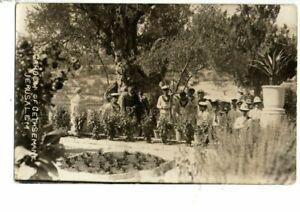 Military Naval Postcard - Unidentified Sailors, Garden of Gethsemane, Jerusalem.