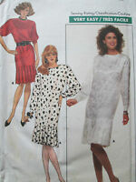 BUTTERICK SEWING PATTERN WOMEN'S LOOSE FIT STRAIGHT DRESS SIZE 12 NEW UN-USED