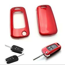 Red Exact Fit Glossy Smart Key Fob Shell Cover For Buick Chevrolet GMC 3 4 Key