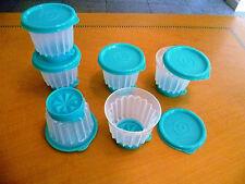 Tupperware Free Shipping New Set 6 Jello and Flan Molds Individual Stars 125 ml