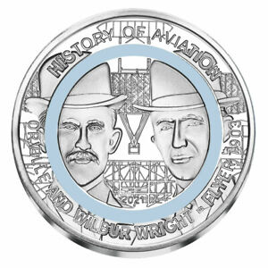 2021 Ghana History of Aviation Wright Brothers Polymer Ring CuNi GH¢2 BU