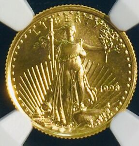 1998 $5 1/10 Oz. Anerican Gold Eagle  MS69 NGC