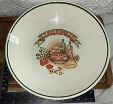 """La Primula Roma Inc White """"Ciao Italia""""13""""Pasta Serving Bowl Made In Italy"""
