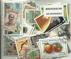 Lot 200 timbres de Madagascar