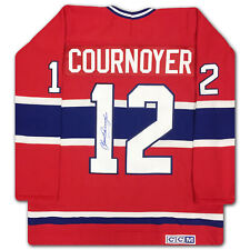 Yvan Cournoyer Autographed Red Montreal Canadiens Jersey