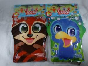 Glove A Bubbles Raccoon & Blue Bird Peacock Wave Play Zing Lot of 2 Outdoor Toy