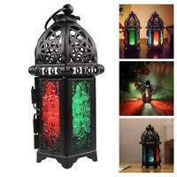 Moroccan Lantern Tea Light Lamp Candle Holder Hanging Home Decor Garden L1D5