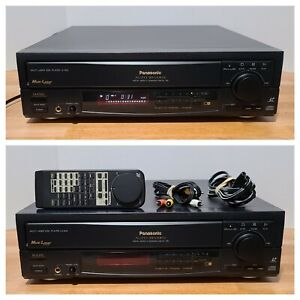 Panasonic LX-600U Laserdisc Player Auto Reverse w/Original Remote and Cables