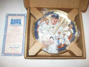 BABE RUTH Hamilton Collection Best Of Baseball Plate Collection Lmtd New w/COA