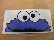 "COOKIE MONSTER - sesame street  - window  ""peeper""  decal -  jdm / sticker bomb"