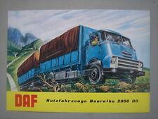 DAF  Schwerlaster  2000 DO Serie   Prospekt   1961.