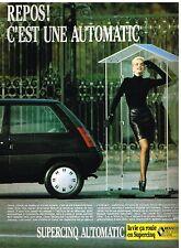 Publicité Advertising 1987 La Renault 5 supercinq Automatic