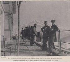 1916  --  SUISSE  DAVOS  GROUPE DE PRISONNIERS FRANCAIS  HOTEL DE L AURORE 3C550