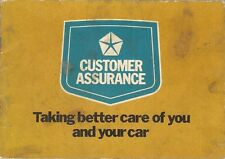 Chrysler UK Service Record Handbook 1975-76 Hillman Sunbeam Humber Simca USED