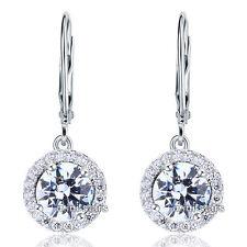 Orecchini di lusso con gemme pendente tondo in argento sterling