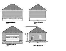 20X24 Garage Plan Hip Roof 24X 20 Garage Print Blueprint Plan #17-2024Hip-1