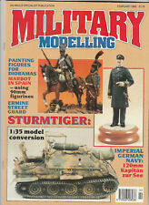 MILITARY MODELLING Magazine February 1992 - Sturmtiger, Painting Figures