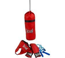 Chad Valley Nuevo 5 Pieza boxeo cuerda y entrenar con el conjunto de boxeo y saco de arena