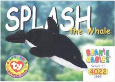 Ty Beanie Babies Bboc Card - Series 2 Common - Splash the Whale - Nm/Mint