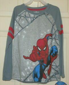 New Boys XS 4-5 Spider-Man Pajamas 2 piece Long Sleeves Fleece Pants