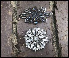 Vintage Jewelcrest Jewel Crest Donald Simpson Brooches x2