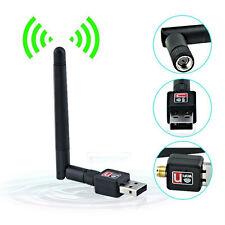 150Mbps Mini USB Wireless WiFi Network Card 802.11n/g/b w/Antenna LAN Adapter US