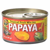 LM Zoo Med Tropical Friut Mix-ins Papaya Reptile Treat 4 oz