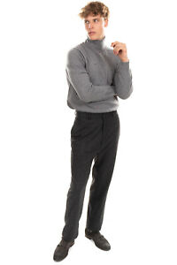 RRP €190 TIGER OF SWEDEN Flat Front Trousers Size 50 / L Cashmere & Wool Blend
