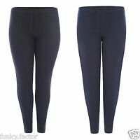 New Ladies Womens Plus Size Stretch Denim Look Skinny Jeggings Leggings UK16-28*