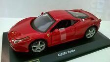 BURAGO RACE & PLAY 1:32 AUTO DIE CAST FERRARI 458 ITALIA ROSSO  ART 18-46000