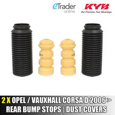 VAUXHALL CORSA D 2006> REAR SHOCK ABSORBER DUST COVER BUMP STOP SET KYB COVERS