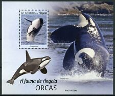 Angola Marine Animals Stamps 2019 MNH Orcas Killer Whales Whale Fauna 1v M/S