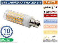 CONFEZIONE 10 PEZZI LAMPADINA LED SMD 2835 E14 7 WATT BIANCO FREDDO BIANCO CALDO