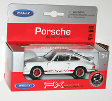 Welly - PORSCHE CARRERA RS (1973) White - Model Scale 1/39