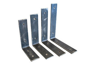 Rustic steel L shape brackets for our Rusic Pine Shelves (Pair)