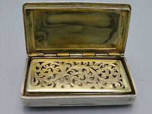 Antique Georgian Silver snuffbox Vinaigrette