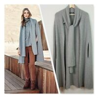 [ COUNTRY ROAD ] Womens Scarf Neck Knit Cape Jacket  | Size S ( Oversized )