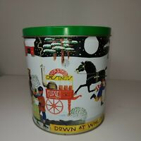 "7.5"" 1999-2000 Trail's End Gourmet Popcorn Tin ""Down At Whistle Stick Pond"""