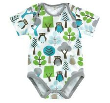 Dwellstudio Organic Short Sleeve Bodysuit, Owls, 6-12 Months, DISTRESSED PACK.