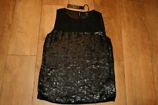 NEW&TAGS LUXE @ DOROTHY PERKINS SIZE 10 sequined top party evening RRP £35!