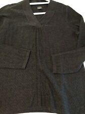 Royal Robbins Charcoal Grey V-neck  Weave Sweater Large