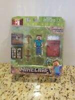 Minecraft Core Player Survival Pack Series 1, Steve Action Figure Brand New