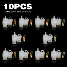 10Set 2.8mm Brass Electrical Wire Connectors 2Pin Male Female Car Terminal Plug