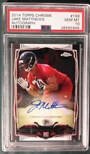 2014 TOPPS CHROME AUTO JAKE MATHEWS ROOKIE CARD #199 PSA 10