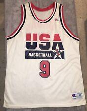 MICHAEL JORDAN Vtg 90s 1992 USA Dream Team OLYMPIC basketball CHAMPION Jersey 48