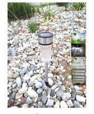 Set Of 6 Outdoor Stainless Steel LED / White Solar Landscape Path Light