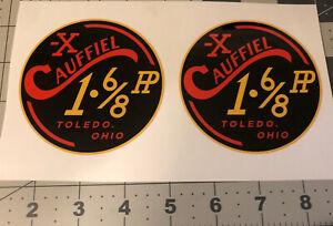 Cauffiel X 1 6/8HP Toledo,Ohio Engine Decal Clinton Clone, Set 2