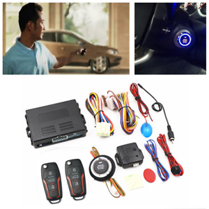 Keyless Entry Engine Ignition Button Remote Starter Car SUV Safely Alarm System