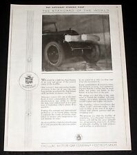 1919 OLD MAGAZINE PRINT AD, THE CADILLAC REPUTATION IS THE CAR OF CARS, ARTWORK!
