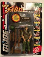 Action Figure GI Joe SGT SAVAGE Commando w VHS 1994 MOC CARDED Original Figure